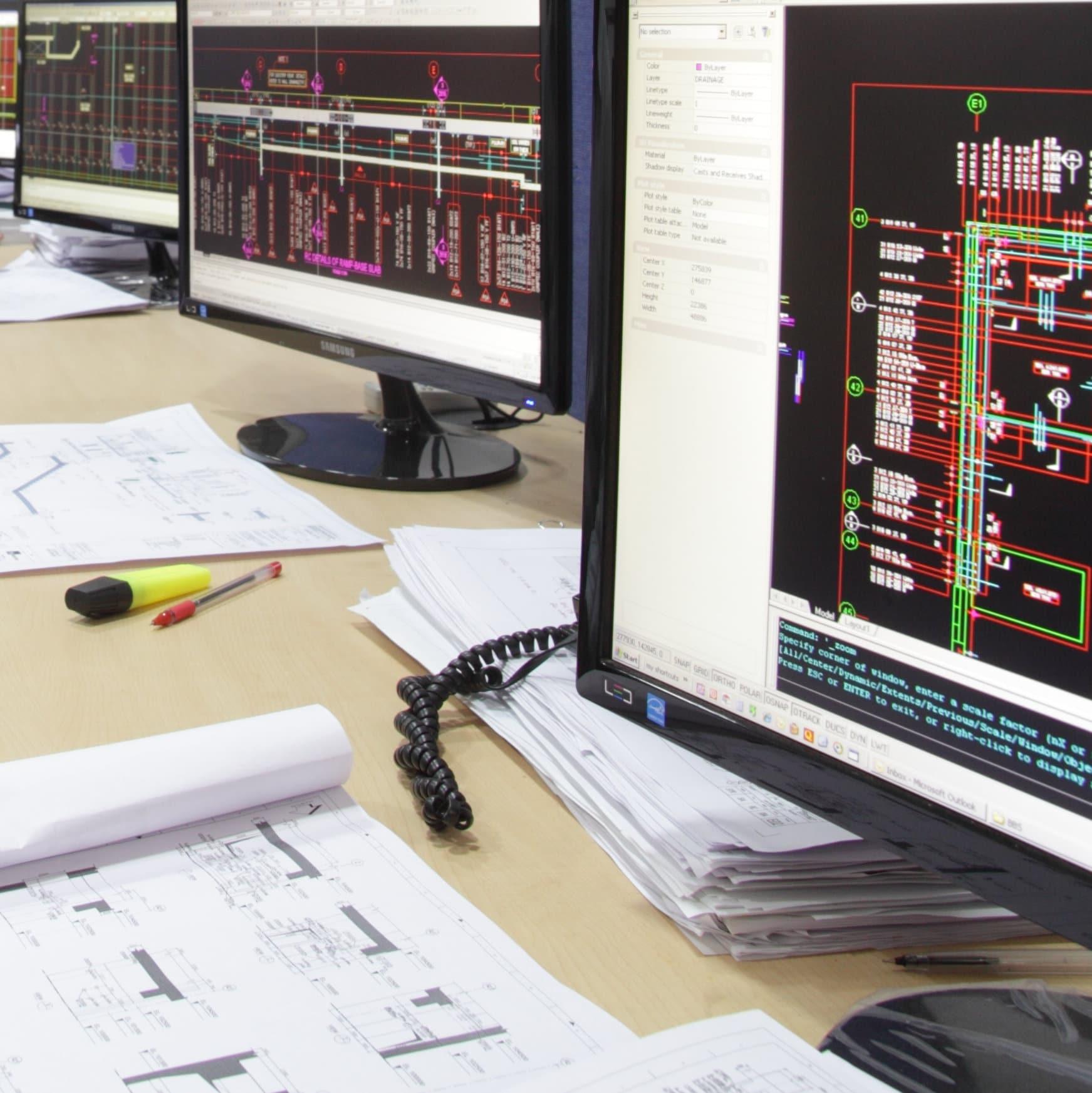 Detailers' computer screens